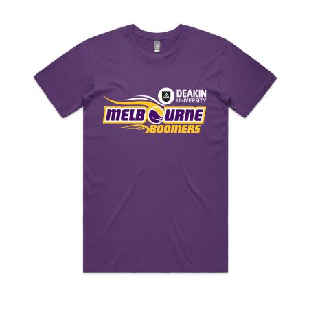 Melbourne Boomers - Purple cotton tee