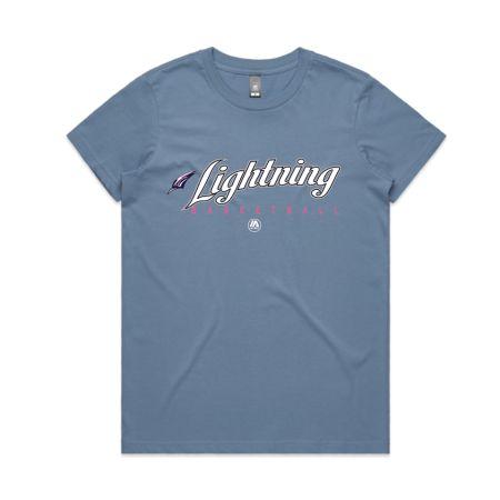 Adelaide Lightning 2020 womens tee - Carolina Blue