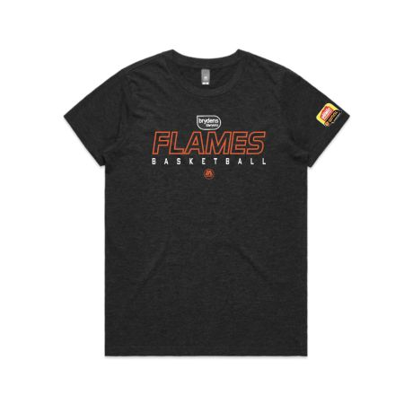 Sydney Flames 2020 womens Tee - Charcoal Marle