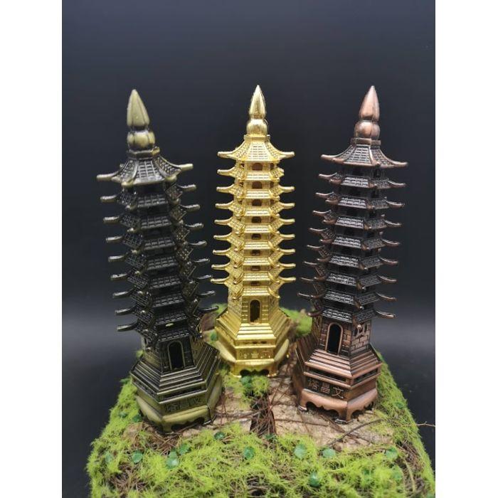 9层铜文昌塔-金/青/紫 Copper WenChang Tower 9 Floor-Golden/Green/Purple