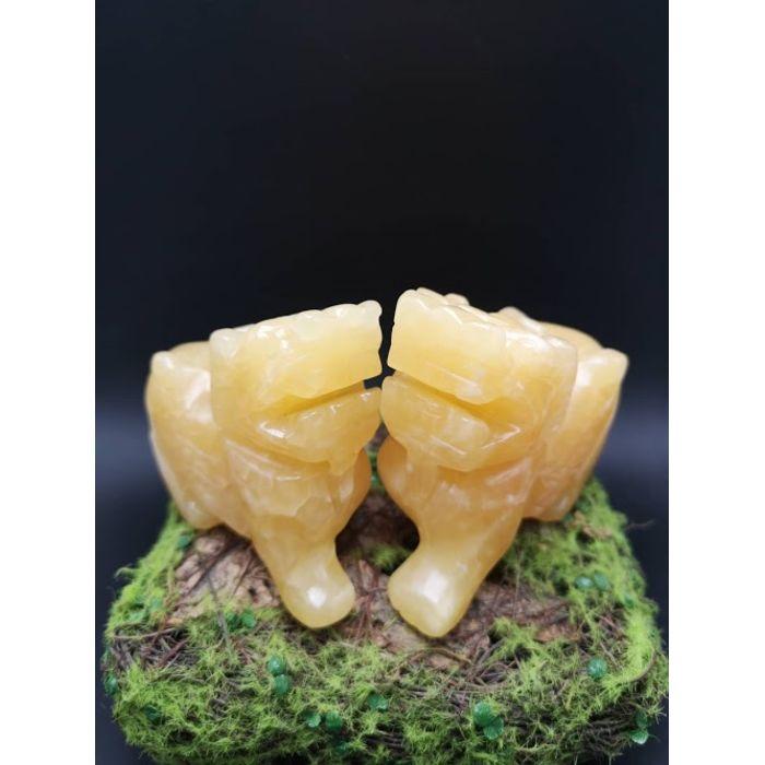 4寸黄玉貔貅 4Inch Yellow Jade PiXiu