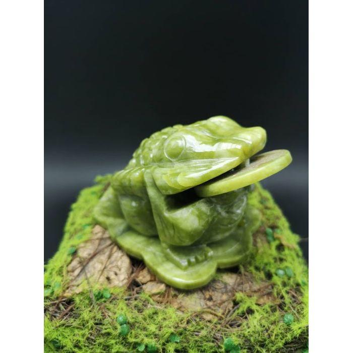 4寸青玉蟾蜍 4Inch Green Jade Toad