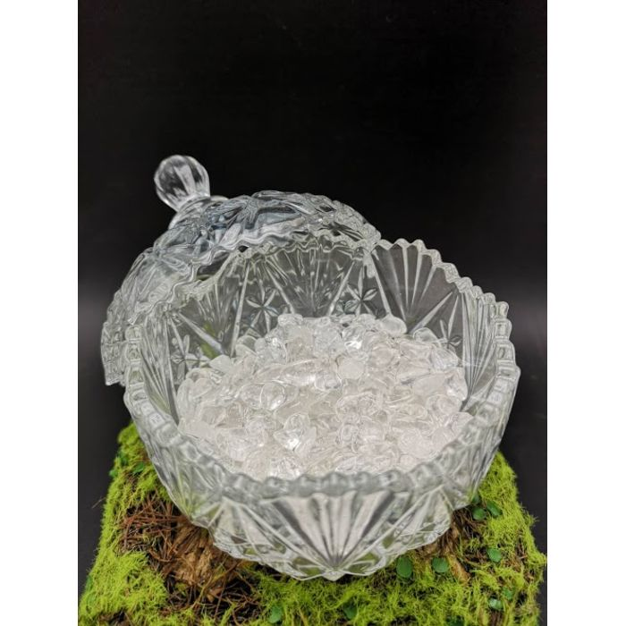 消磁碗+250克高级白水晶石 250g White Crystal+Bowl