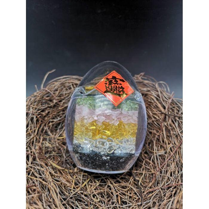 七彩聚宝蛋(小)Rainbow Crystal Egg (S)