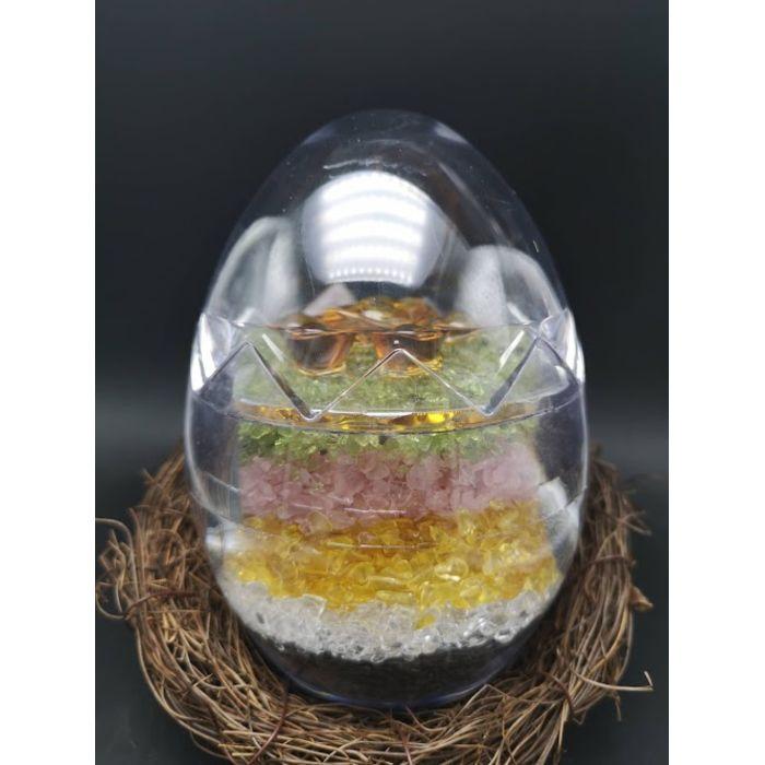 七彩聚宝蛋(大)Rainbow Crystal Egg (B)
