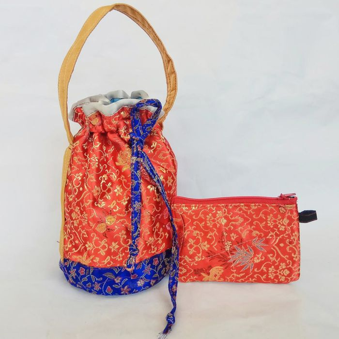 百分百纯手工水桶包 handmade bag (free coin wallet worth RM12附送一个零角包) ±22cm x ±13cm