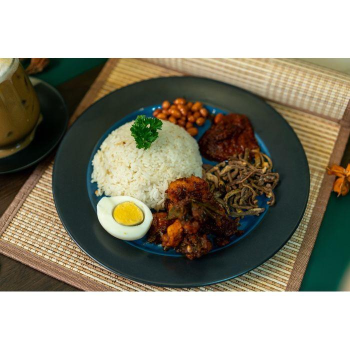 Nasi Lemak with Monkey Mush Rendang