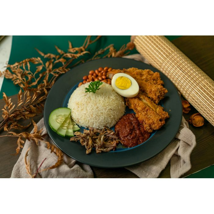 Nasi Lemak with Mush Steak