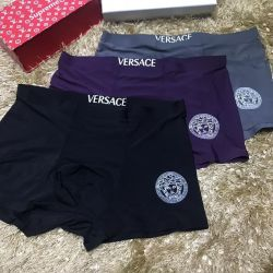 3 Piece. Designer Men's Brief VERSACE SILK