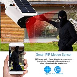 Solar Rechargeable Motion Recording Wifi Surveillance IP Camera