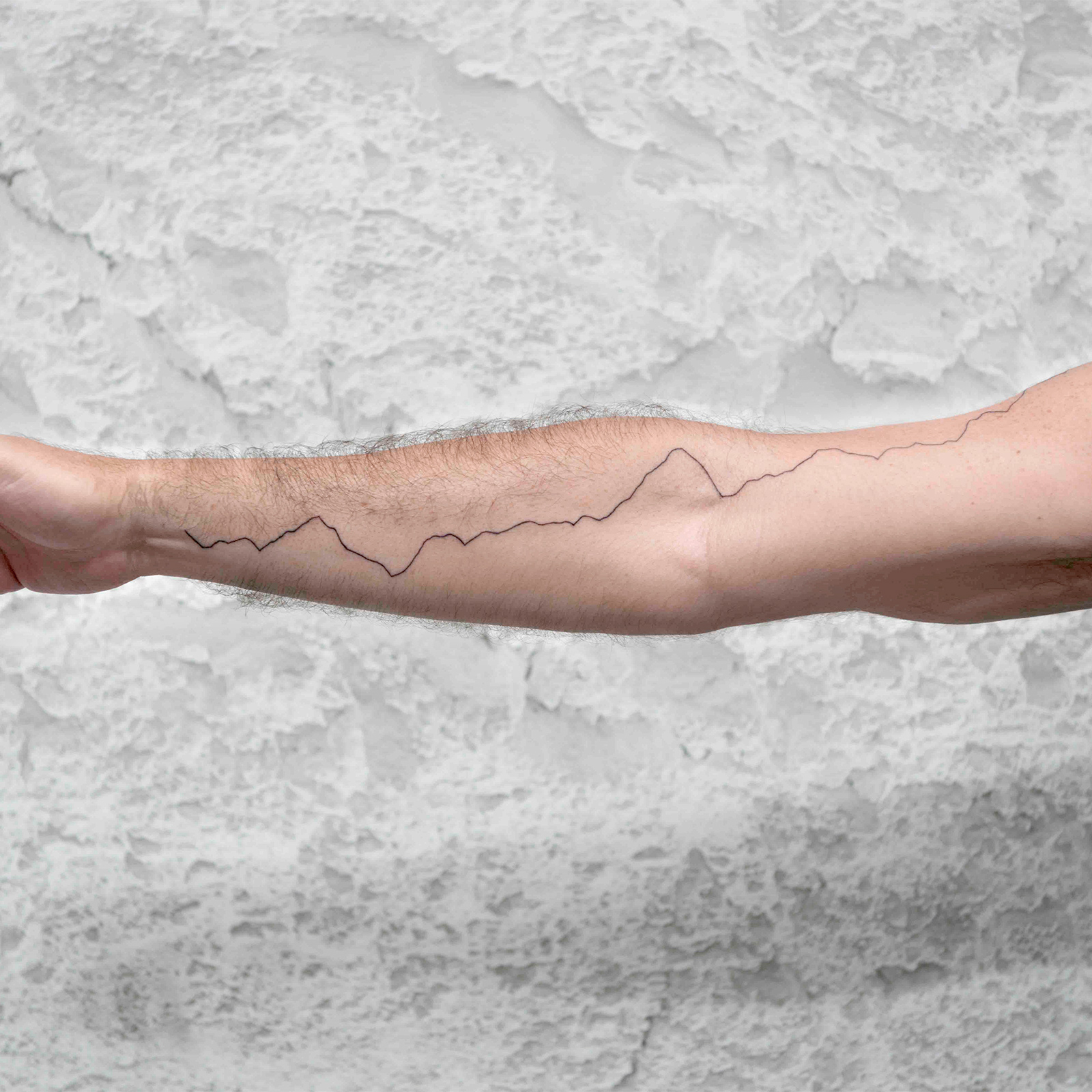 Justin Brice Guariglia's arm tatoo