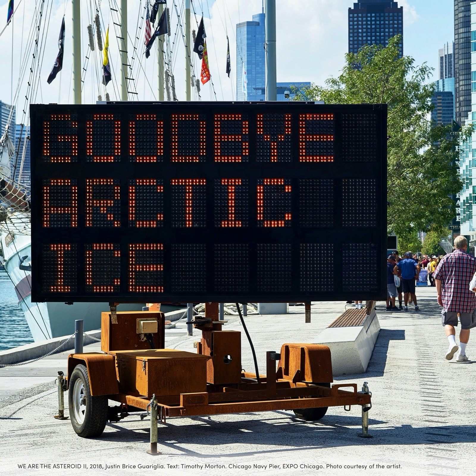 Goodbye artic ice sign