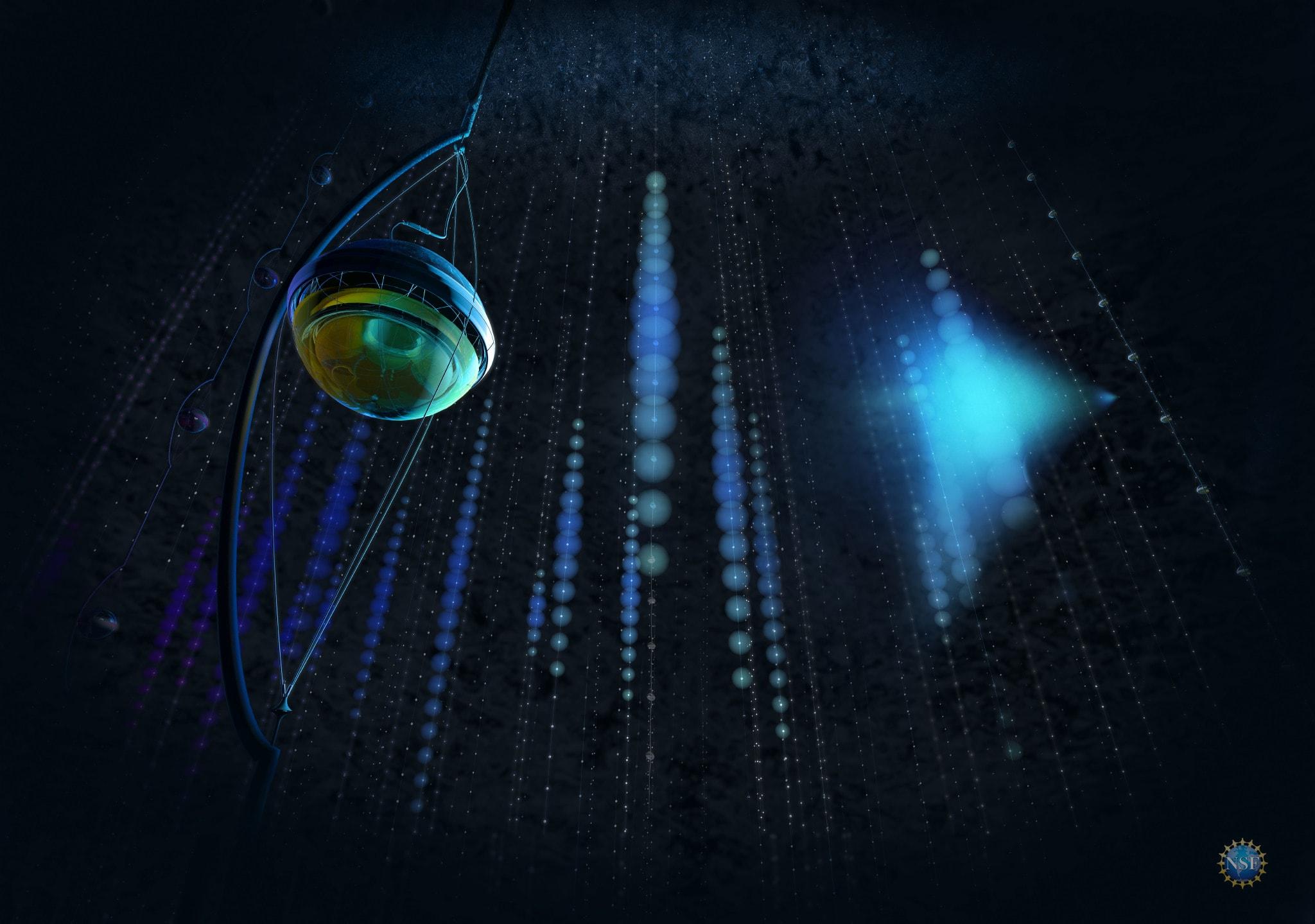 A neutrino detected in IceCube