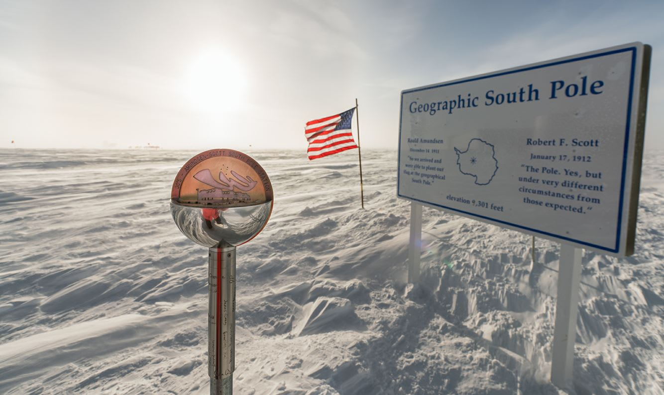 The 2018 South Pole marker