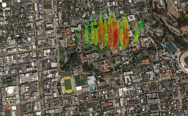 A high-energy neutrino over Berkeley, California