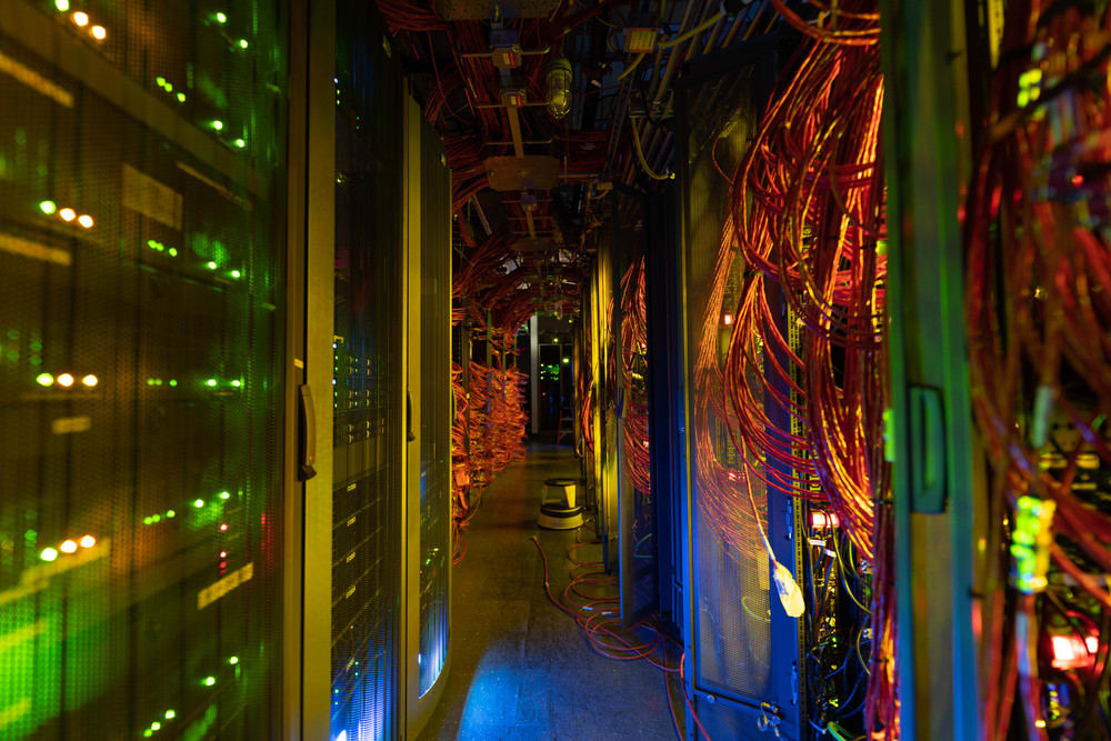 Server room in the IceCube Lab