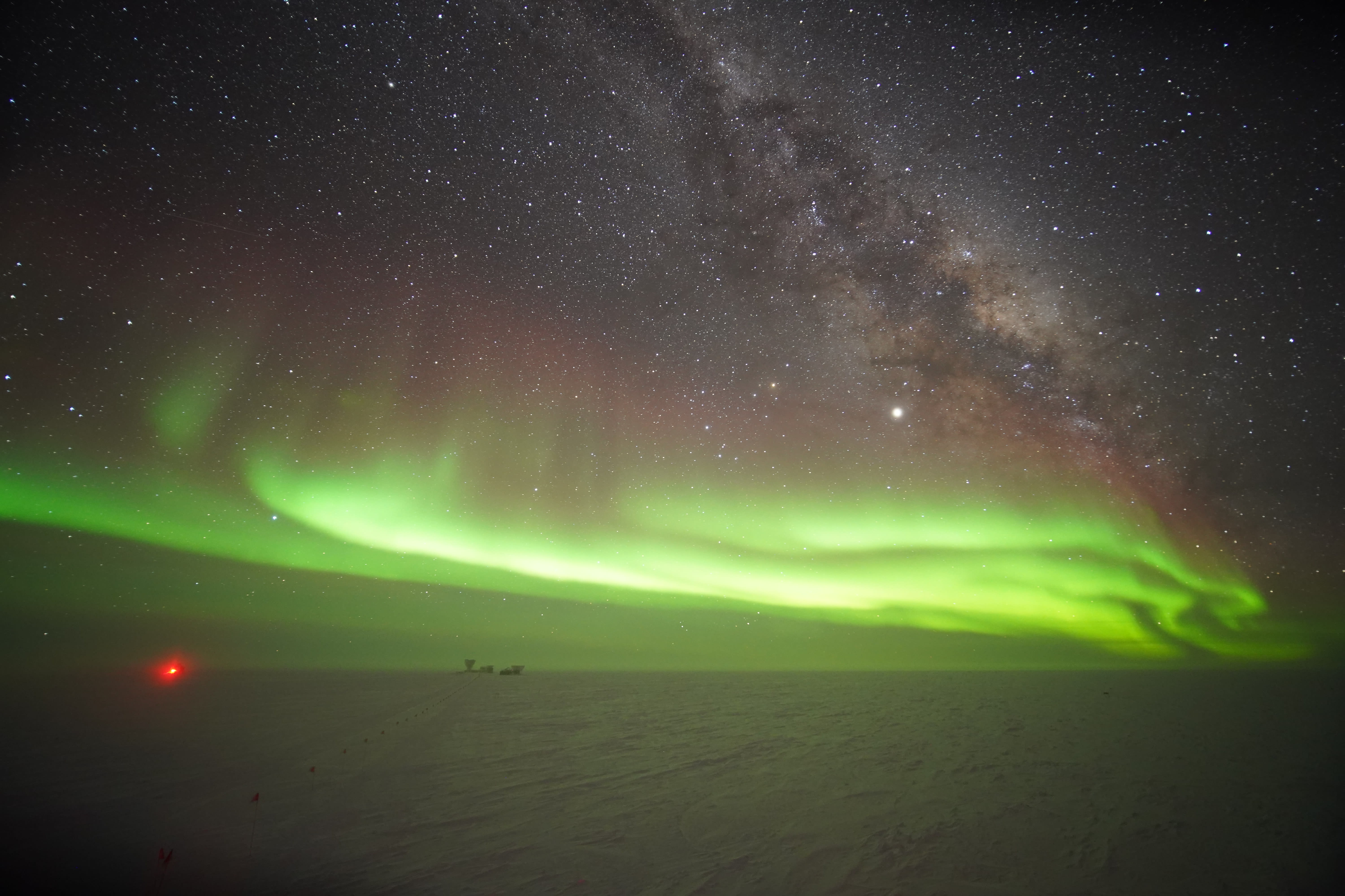Auroras at the South Pole