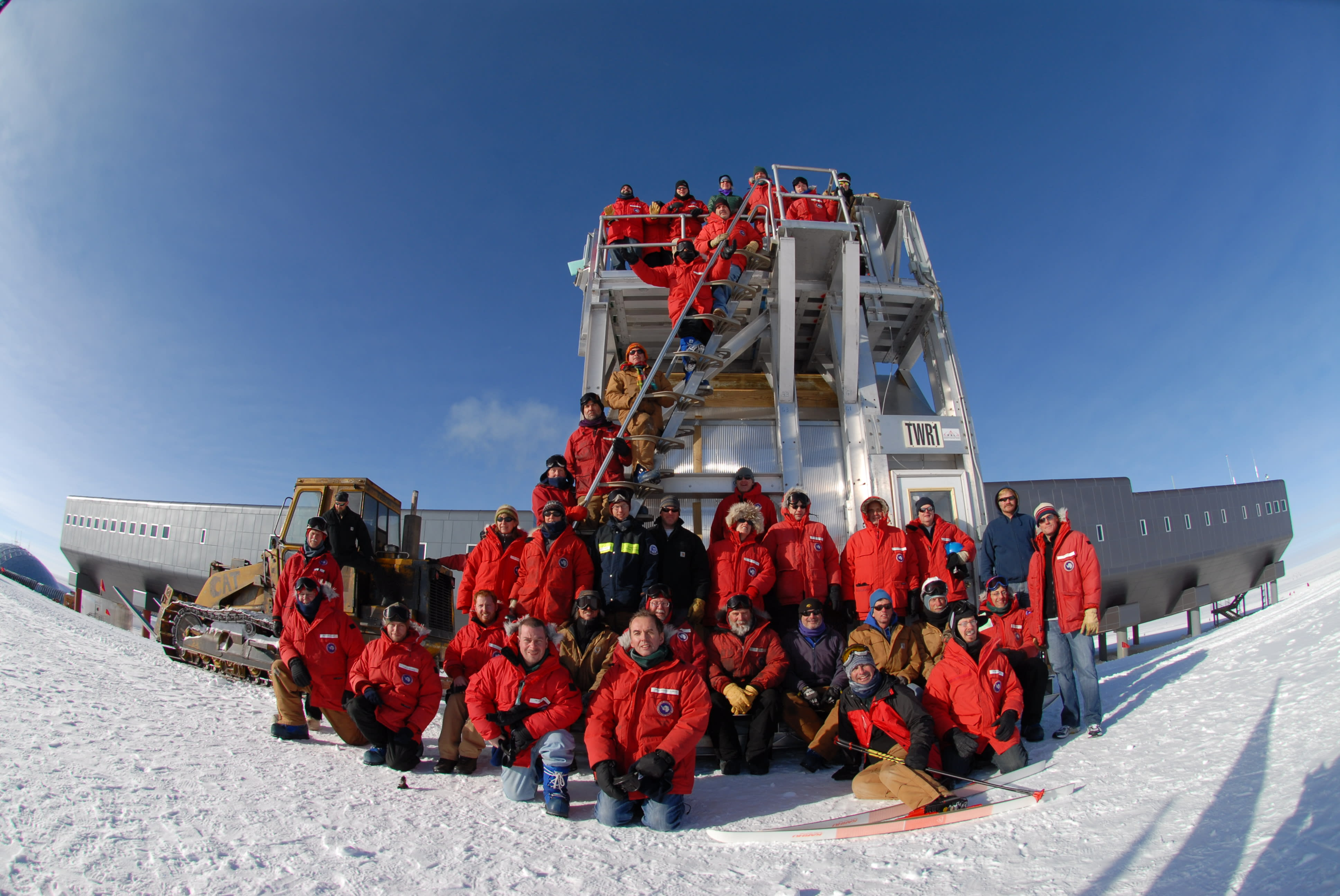 IceCube South Pole team for the 2007-2008 season