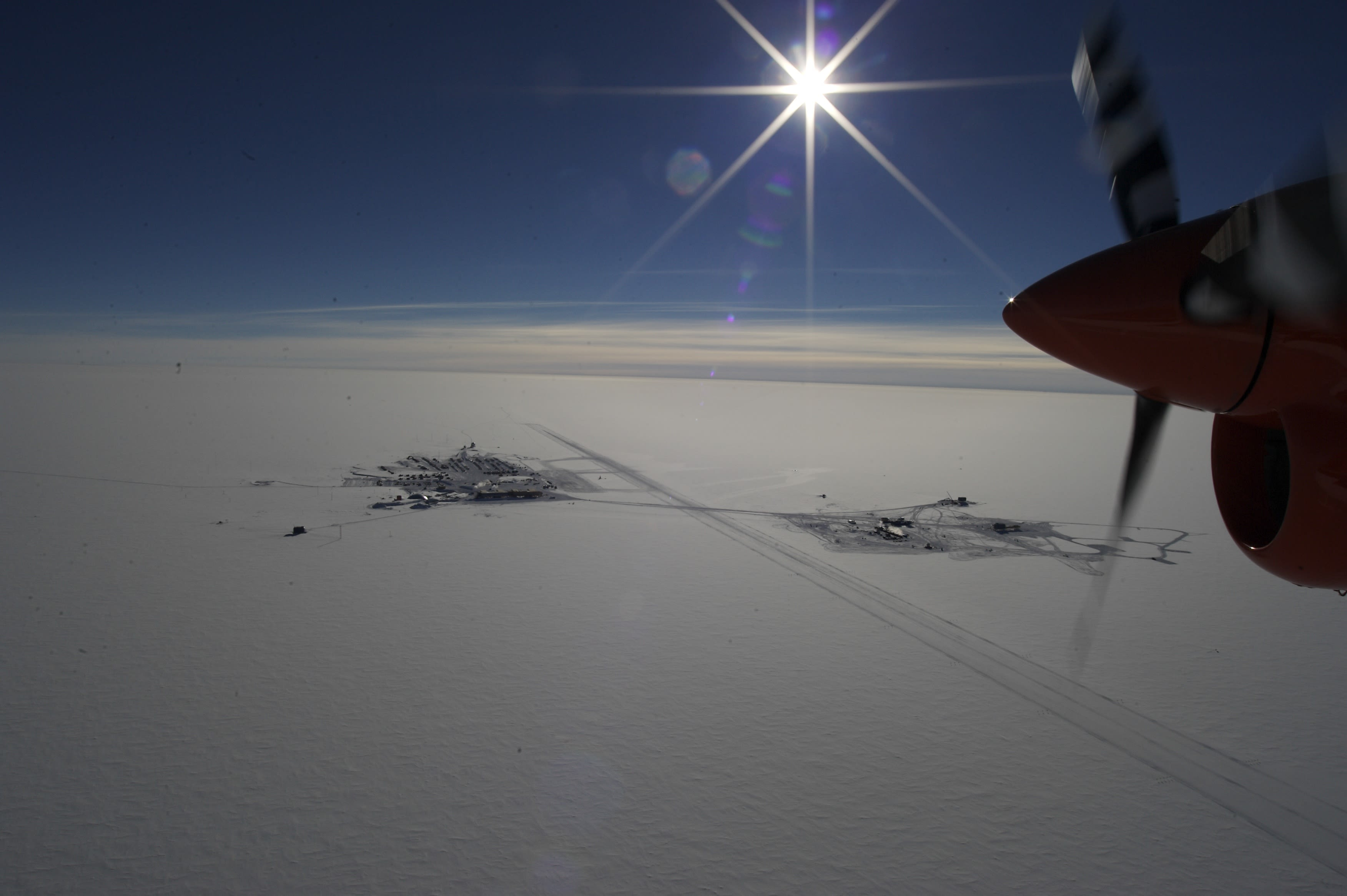 Aerial view of the South Pole