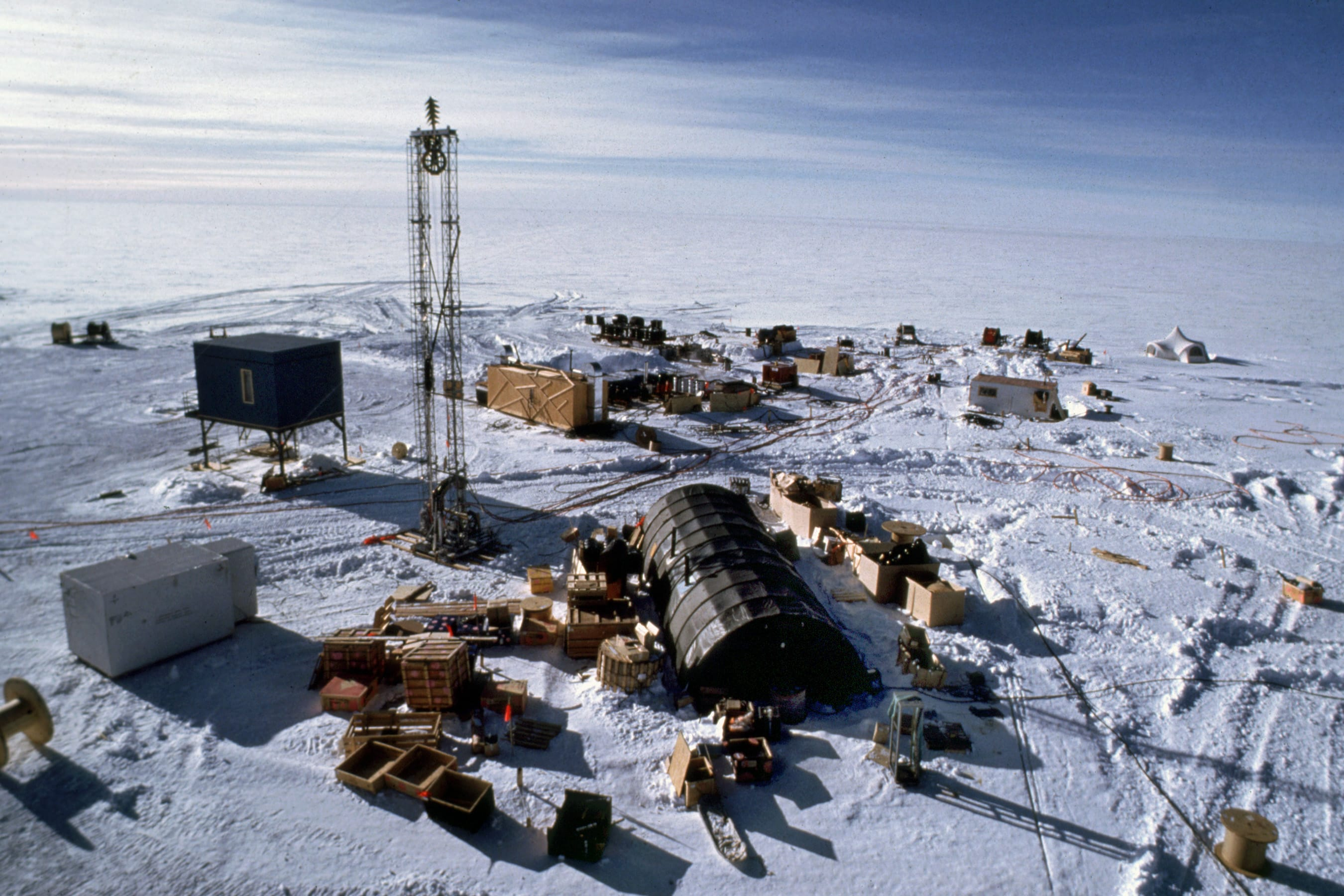 Supplies at the South Pole