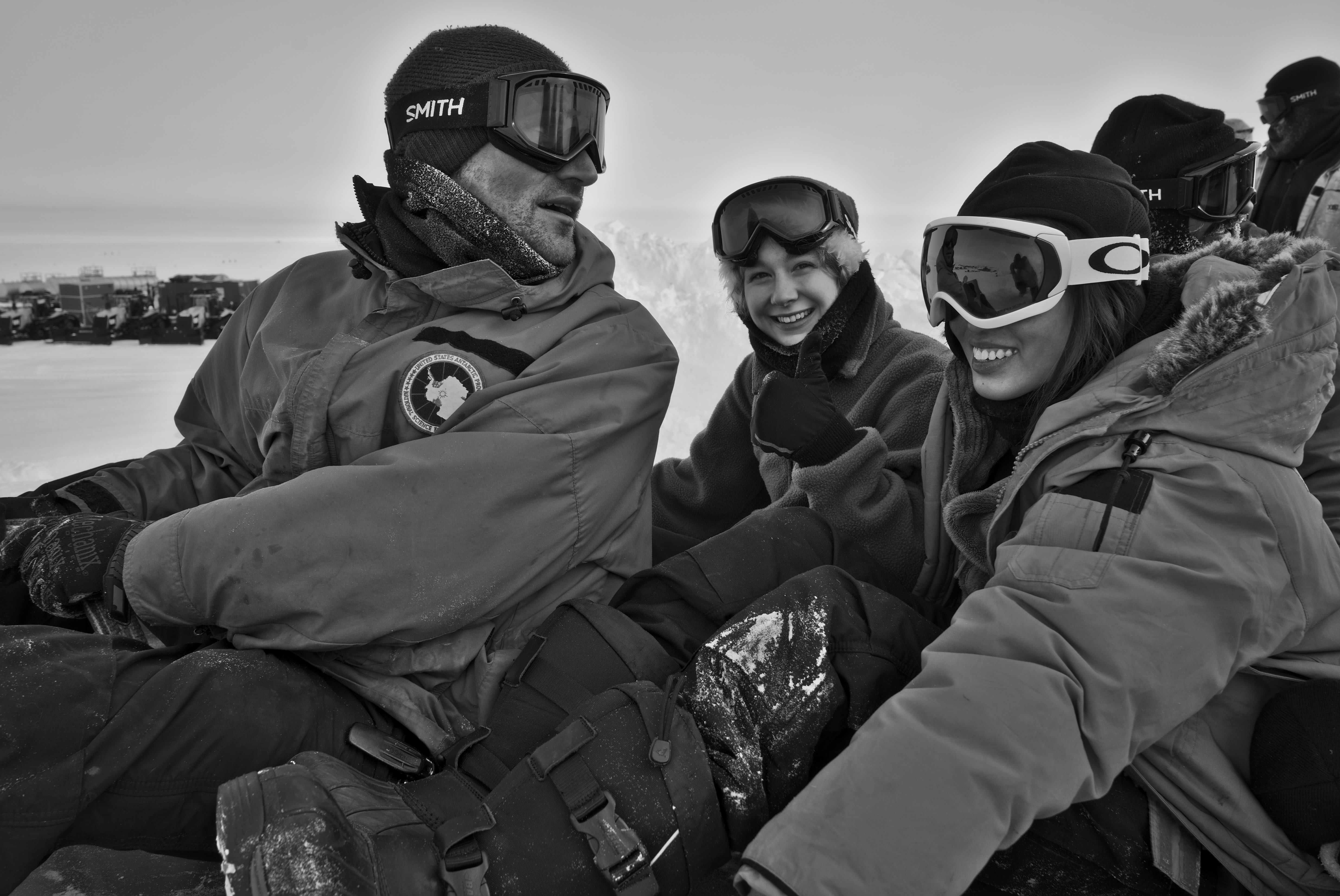 Winterovers going sledding