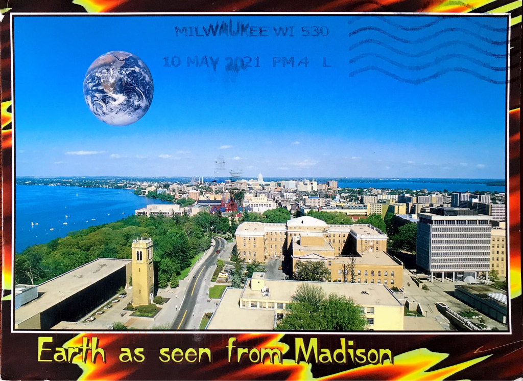 Cover of postcard from Mike DuVernois (UW–Madison, USA)