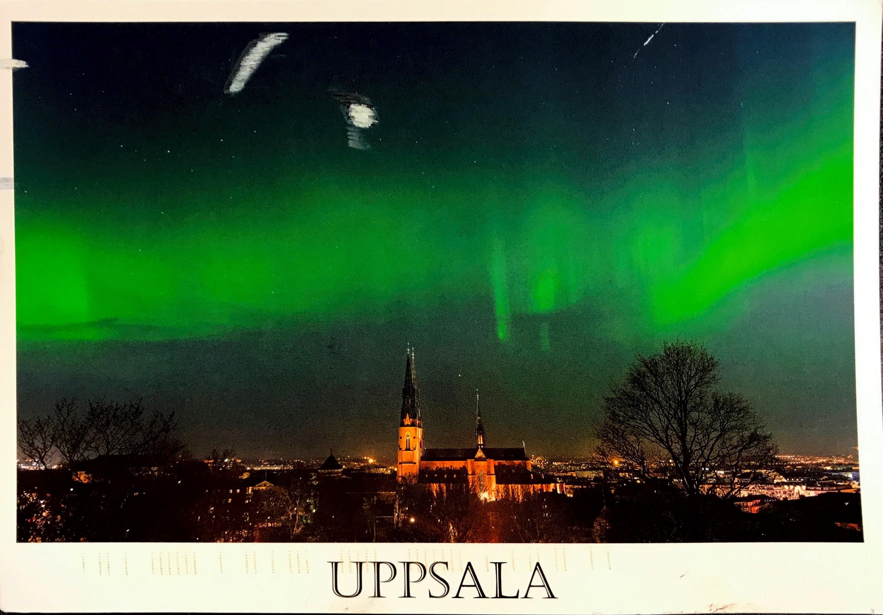 Cover of postcard from Jakob Beise (Uppsala University, Sweden)