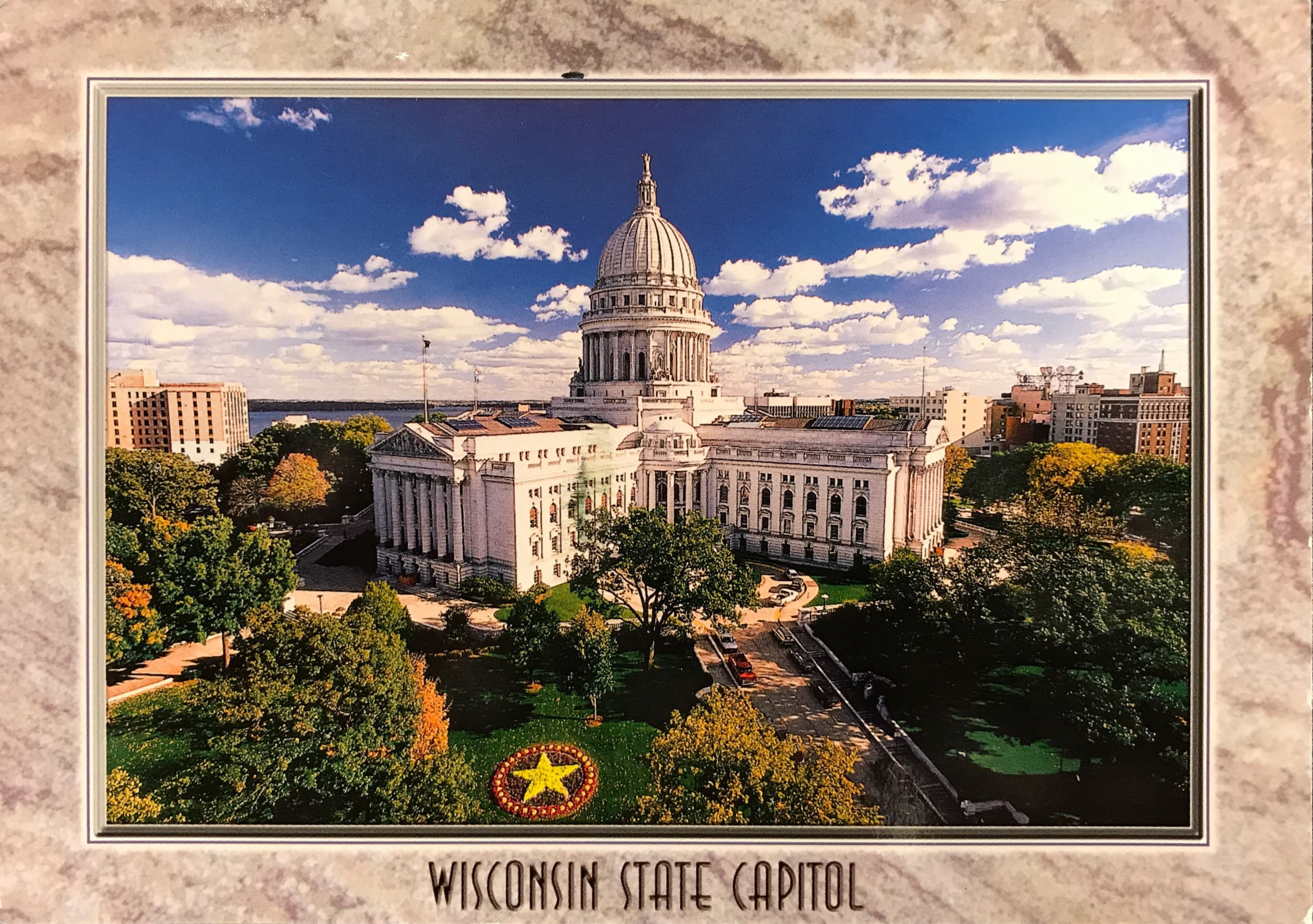 Cover of postcard from Jean DeMerit (UW–Madison, USA)