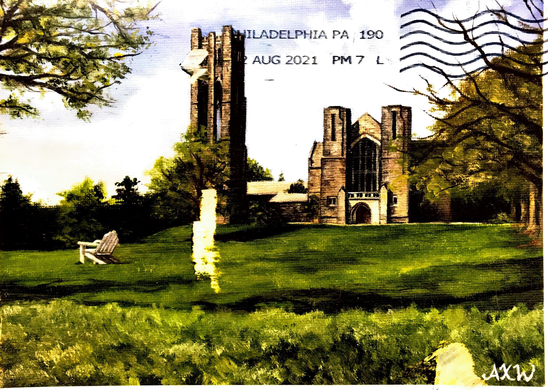 Cover of postcard from Tom Gaisser (University of Delaware, USA)