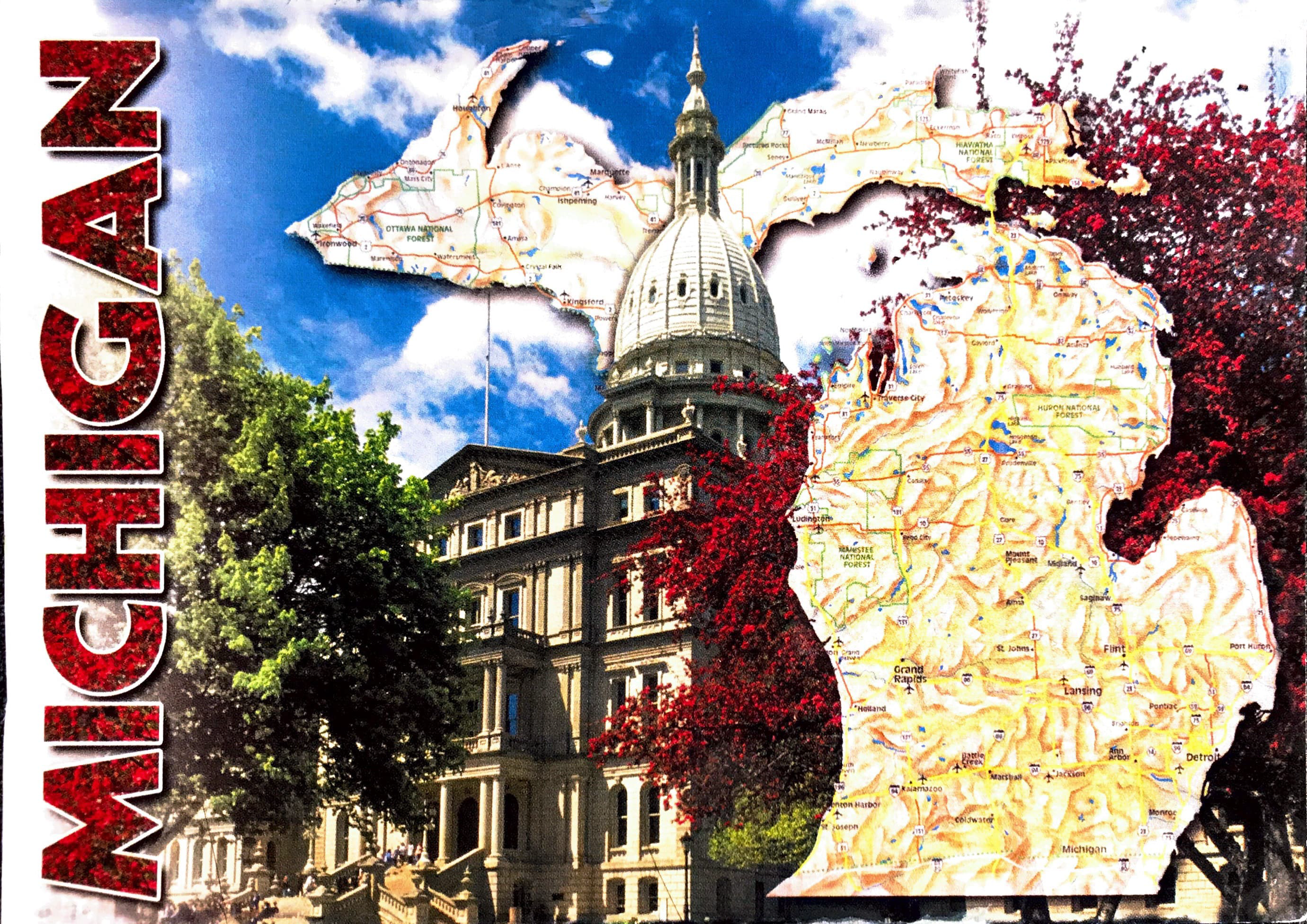 Cover of postcard from Jessie Micallef (Michigan State University, USA)