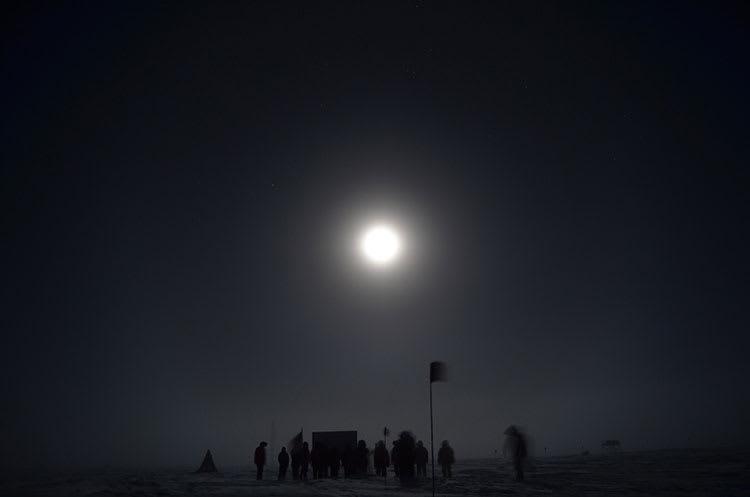 SPWR 24 - South Pole Marker in Moonlight