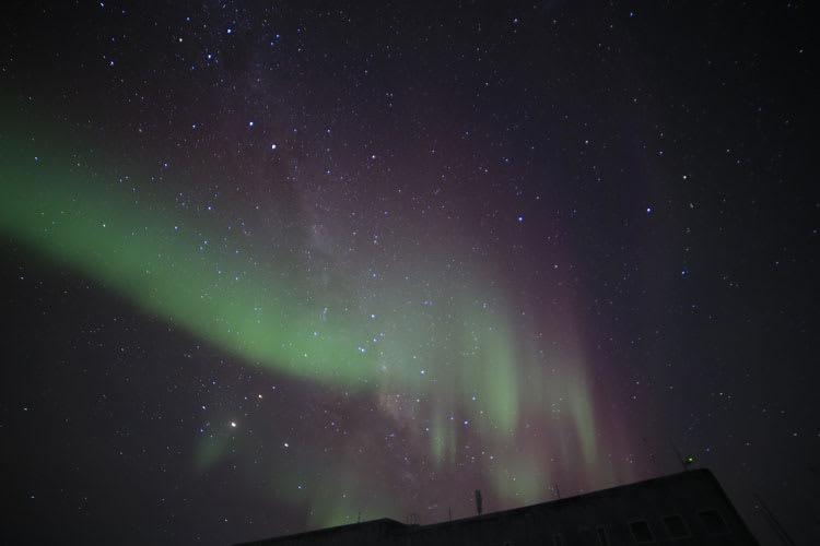 slanted aurora