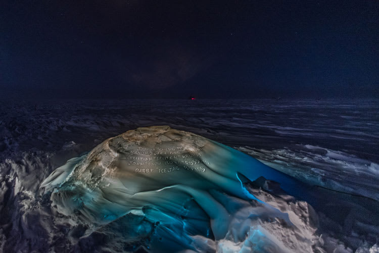 glowing igloo