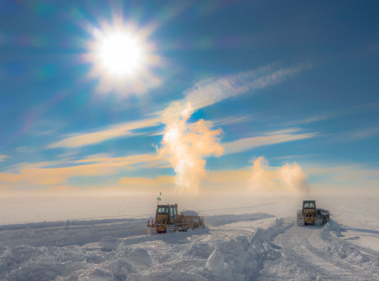 bulldoze snow