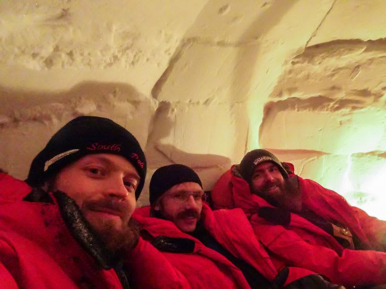 in the igloo