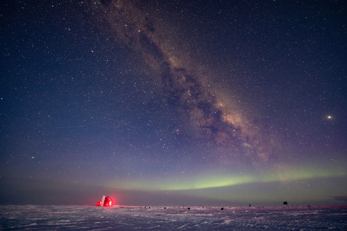 Auroras, the Milky Way, and the ICL