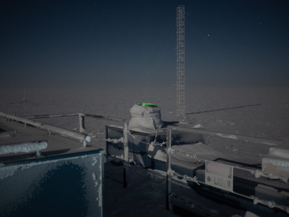Frosty view of LIDAR.