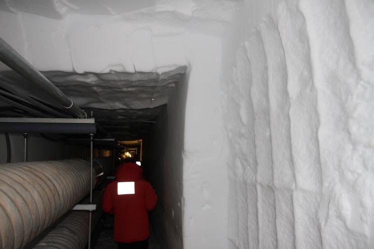 tunnel wall