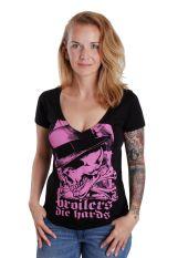 Broilers - 90% Magenta - V Neck Girly
