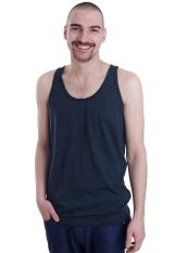 American Apparel - Poly Cotton Black Aqua - Tank