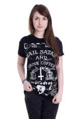 Black Craft Cult - Hail Satan Drink Coffee - T-Shirt
