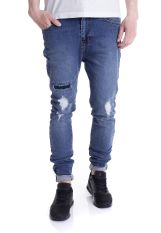 Dr. Denim - Leon Mid Blue Ripped - Jeans