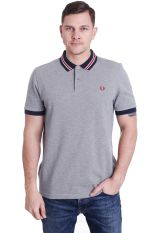 Fred Perry - Bomber Stripe Collar Steel Marl - Polo
