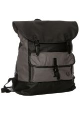 Fred Perry - Coated Canvas Charcoal - Backpack