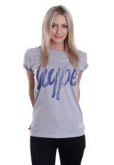 HYPE. - Drips Script Grey - T-Shirt