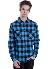 Urban Classics - Checked Flanell Black/Turquoise - Shirt