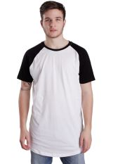 Urban Classics - Shaped Raglan Long White/Black - T-Shirt