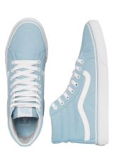 Vans - Sk8-Hi Slim Crystal Blue/True White - Girl Shoes