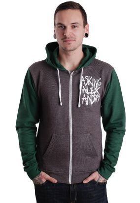 Asking Alexandria - Spraypaint Charcoal/Green - Zipper