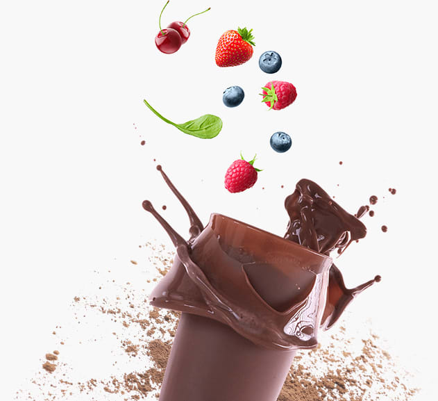 Chocolate shake splashing
